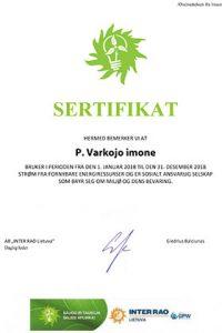 , Certificaten